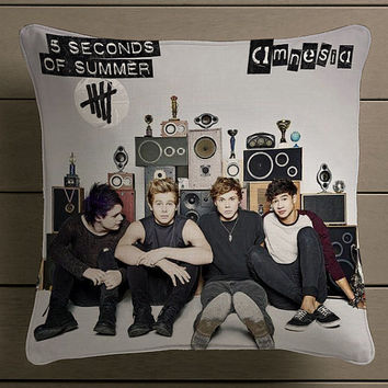 5SOS 5 seconds of summer amnesia Square Pillow Case Custom Zippered Pillow Case one side and two side