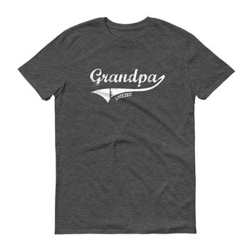 Men's Grandpa Since 2017 First Father's Day New dad T-shirt