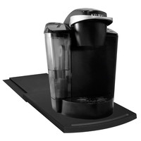 Evelots Sliding Kitchen Caddy, Coffee Maker Space Saver, Counter Tray, Black