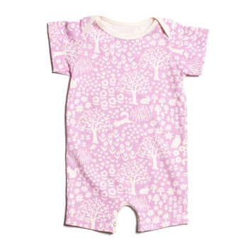 Lavender Woodland Organic Romper by Winter Water Factory