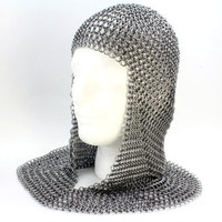 Chainmail Armor Coif Knight Aluminum by TangledMetal on Etsy