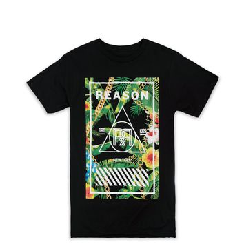 BOTANICAL BOX PRINT TEE - BLACK
