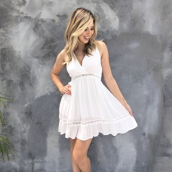 Love Never Fades White Skater Dress