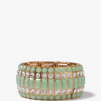 Colored Rhinestone Bracelet