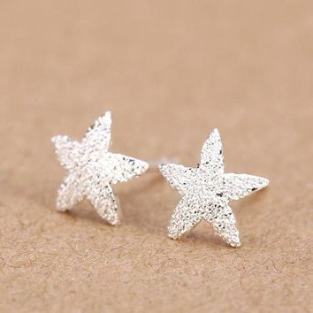 ac spbest Trusta Women's 100% 925 Sterling Silver Jewelry Fashion cute Tiny 5 stars Stud Earrings Gift for Girls Friend Kids Lady  DS25