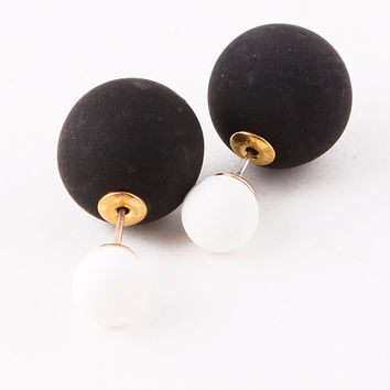 Black & White Double-Sided Earrings