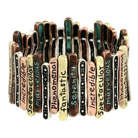 More Than Words Bracelet Inspiration Bracelet in Patina Verdis Gris