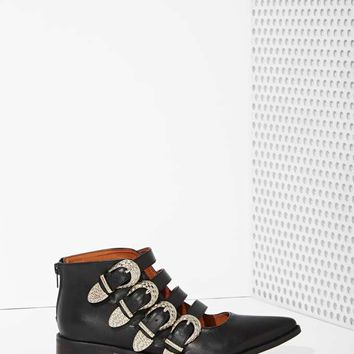 Kobe Husk De Fete Leather Ankle Boots