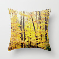 The Glow Throw Pillow by S. Ellen