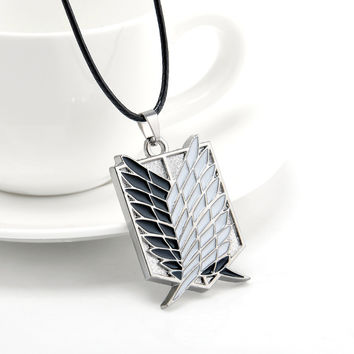 Metal Attack on Titan Wings of Liberty Necklace