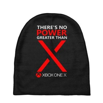 xbox one x – there's no power greater than x Baby Beanies