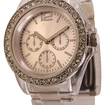 FMD by Fossil Women's Fashion Crystal Accents Watch
