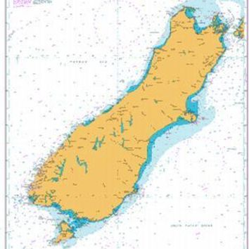 British Admiralty Nautical Chart  4648: South Pacific Ocean, New Zealand, South Island