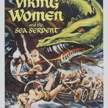Viking Women And The Sea Serpent Movie Poster 11x17 Mini Poster