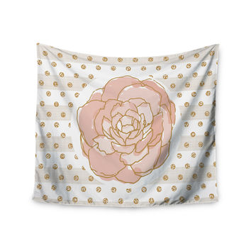 "Pellerina Design ""Watercolor Peony"" Pink Floral Wall Tapestry"
