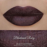 Blackened Ruby Liquid Lipstick Matte Attack Liquid Lipstick