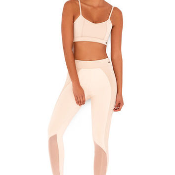 Work-Out Wear : 'Warrior' Nude & Blush Stretch Jersey Workout Leggings