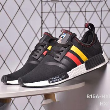 ADIDAS NMD R1 RK World Cup Customized Knit Flying Line Comfortable Sneakers F-CSXY