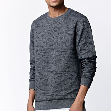 Modern Amusement Quilted Crew Neck Sweatshirt - Mens Hoodies - Gray