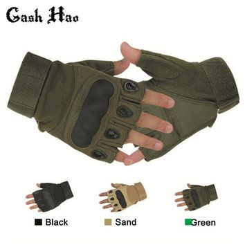 Tactical Fingerless Gloves Military Army Sports Shooting Paintball Airsoft Outdoor Carbon Knuckle Half Finger Gloves