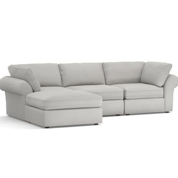 PB Air Upholstered 4-Piece Sofa with Chaise Sectional