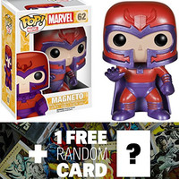 Magneto: Funko POP! x Marvel Universe - X-Men Vinyl Bobble-Head Figure + 1 FREE Official Marvel Trading Card Bundle