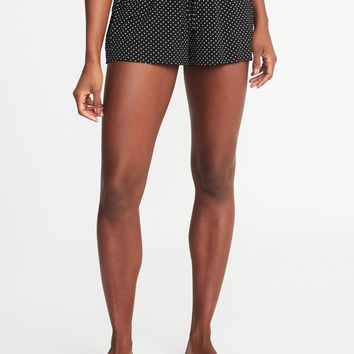 Drawstring Jersey Lounge Shorts for Women |old-navy