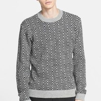 Men's Patrik Ervell Geometric Pattern Alpaca Sweater,