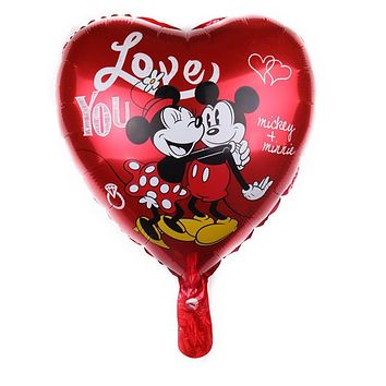 OEING 18inch Heart Helium Mickey Minnie Mouse Foil Balloons