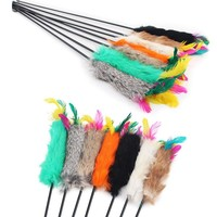 Feather Wand Stick Cat Toy