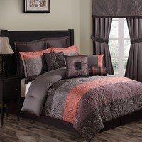 Vaughn 10-pc. Comforter Set - Full (Grey)