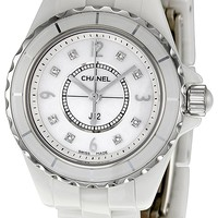 Chanel Women's H2570 J12 Diamond Dial Watch