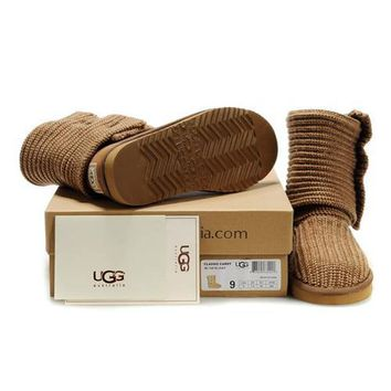 Ugg Boots Uk Knit Classic Cardy 5819 Chestnut For Women 81 14