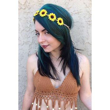 Sunflower Twine Headband #C1021