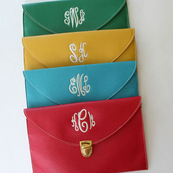 Clutch Purse with Detachable Chain Monogram Bag Back To School