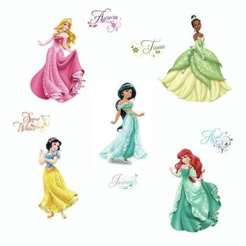 Disney Princesses Wall Stickers Royal Debut Glitter Decals
