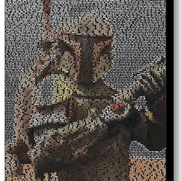 Star Wars Boba Fett Quotes Mosaic INCREDIBLE