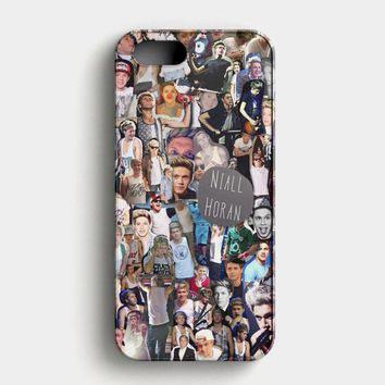 Niall Horan Collage Cartoon iPhone SE Case
