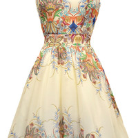 Mayan Princess Chiffon Tea Dress