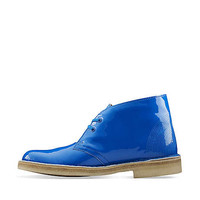 Desert Boot-Women in Blue Leather - Womens Boots from Clarks