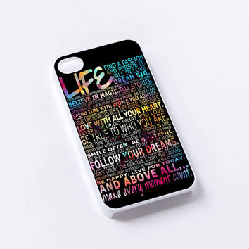 life quotes iPhone 4/4S, 5/5S, 5C,6,6plus,and Samsung s3,s4,s5,s6