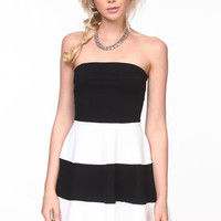 Flared Mod Striped Dress - LoveCulture