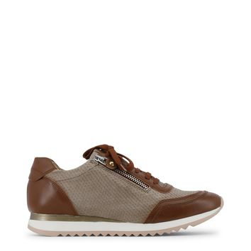 """Women's Brown Leather """" Arnaldo Toscani"""" Lace Up Sneakers/Athletic Shoes"""