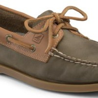 Sperry Top-Sider Authentic Original Two-Tone 2-Eye Boat Shoe Olive/Cognac, Size 5M  Women's Shoes