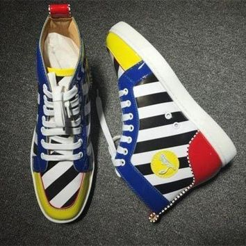 DCCK2 Cl Christian Louboutin Leather Style #2156 Sneakers Fashion Shoes