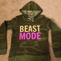 Camo - Beastmode - Eco Fleece - Hoodie - Ruffles with Love