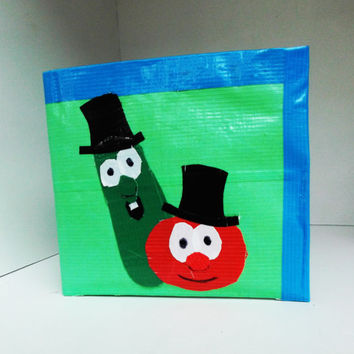 Veggie Tales Duct Tape Wallet  - unique, gift for kids, stocking stuffer, boys, custom