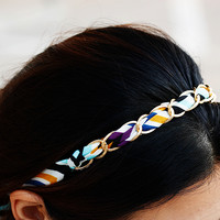 Unique Pattern With Gold Headband