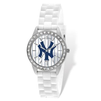 Ladies MLB New York Yankees Pinstripe Frost Watch
