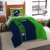 Seattle Seahawks NFL Twin Comforter Bed in a Bag (Soft & Cozy) (64in x 86in)